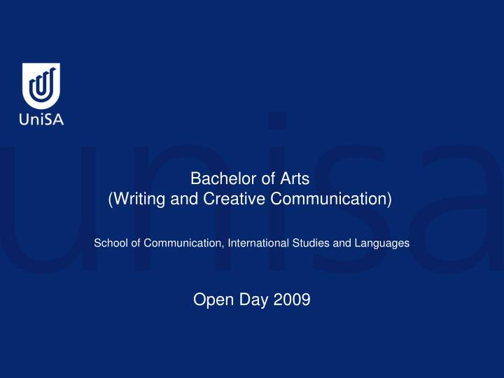 Bachelor of arts writing and creative communication