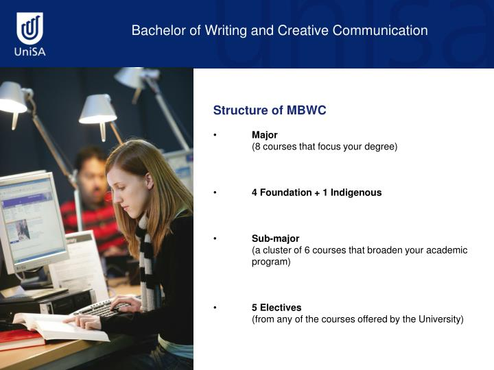 Bachelor of Writing and Creative Communication
