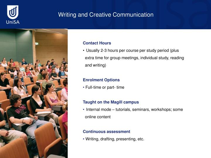 Writing and Creative Communication