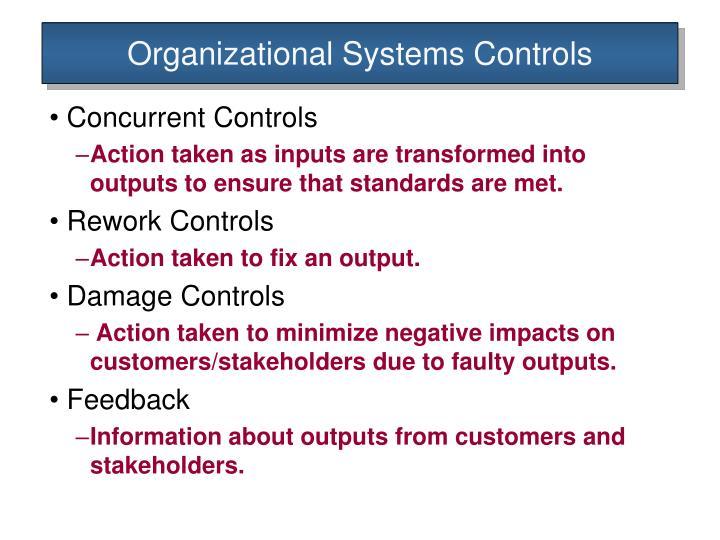 Organizational systems controls1