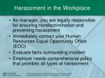 harassment in the workplace1