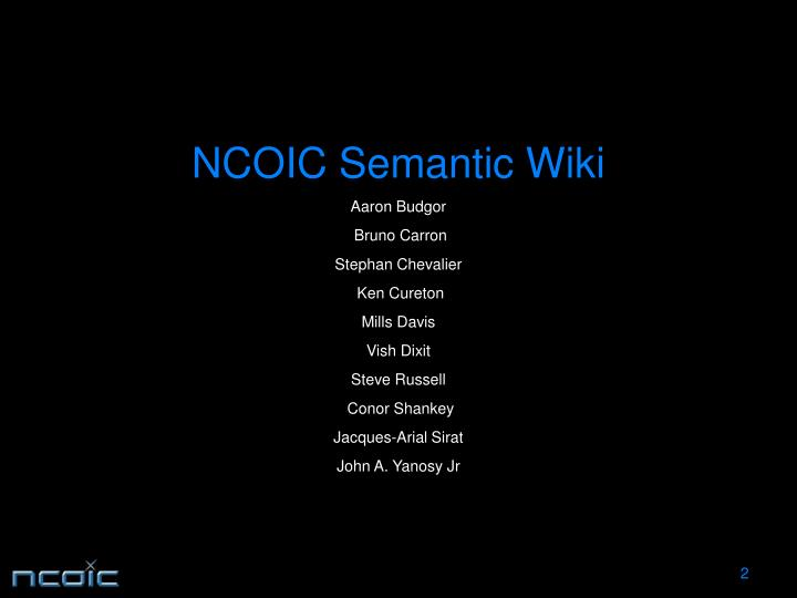 Ncoic semantic wiki