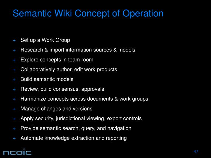 Semantic Wiki Concept of Operation