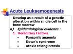 acute leukaemogenesis