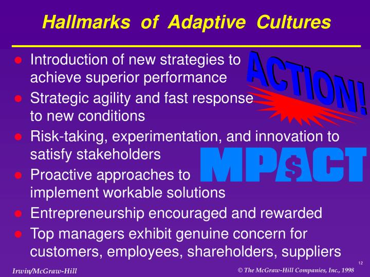 Hallmarks  of  Adaptive  Cultures