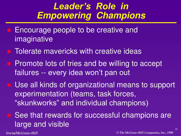 Leader's  Role  in