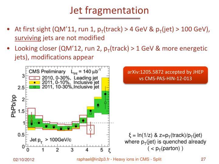 Jet fragmentation