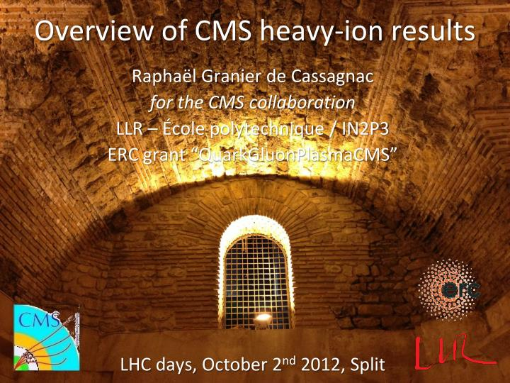 Overview of cms heavy ion results