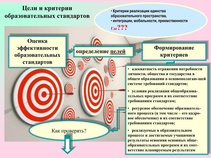 Цели и критерии образовательных стандартов