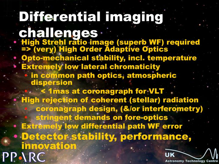 Differential imaging challenges