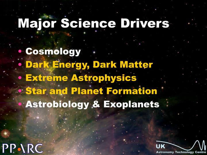 Major Science Drivers
