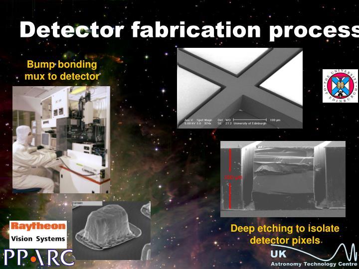 Bump bonding mux to detector