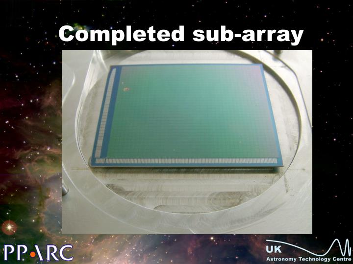 Completed sub-array