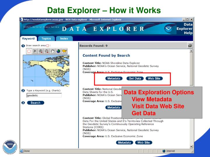 Data Explorer – How it Works