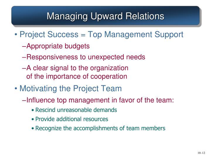 Managing Upward Relations