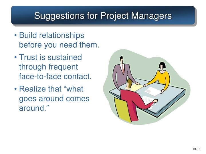 Suggestions for Project Managers