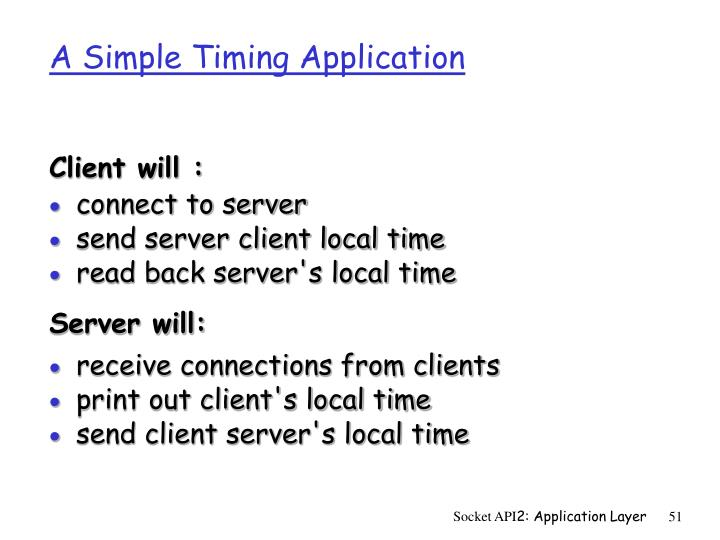 A Simple Timing Application