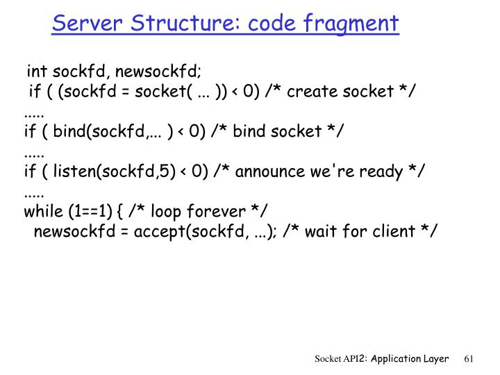 Server Structure: code fragment
