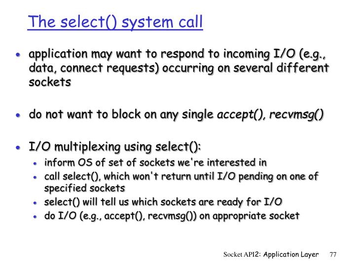 The select() system call