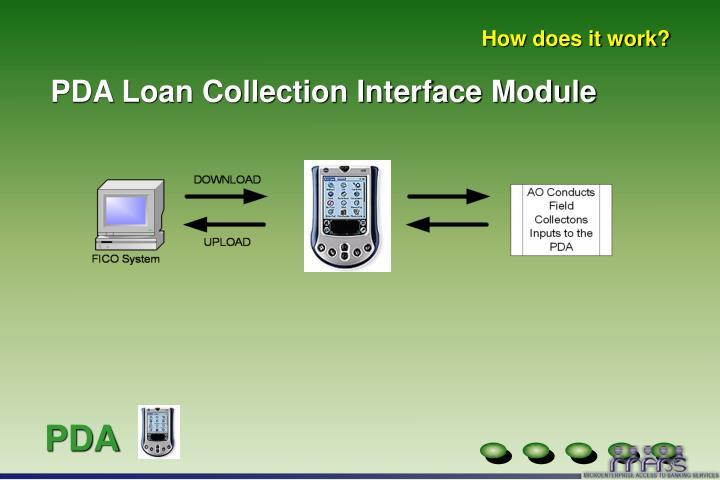 PDA Loan Collection Interface Module