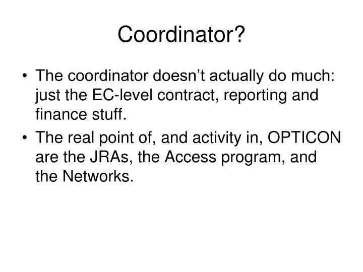 Coordinator