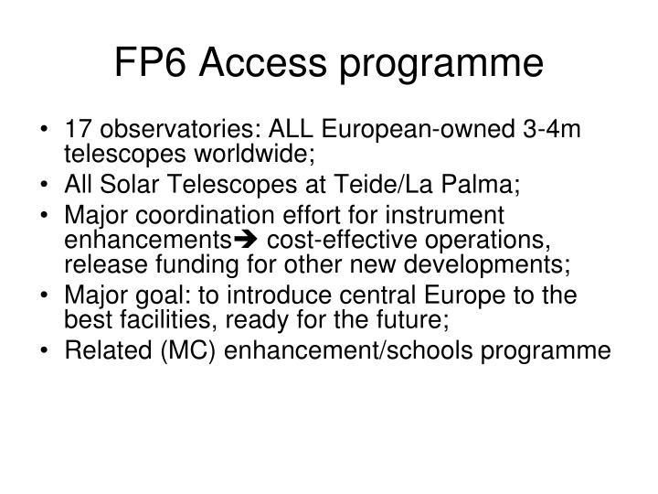 FP6 Access programme