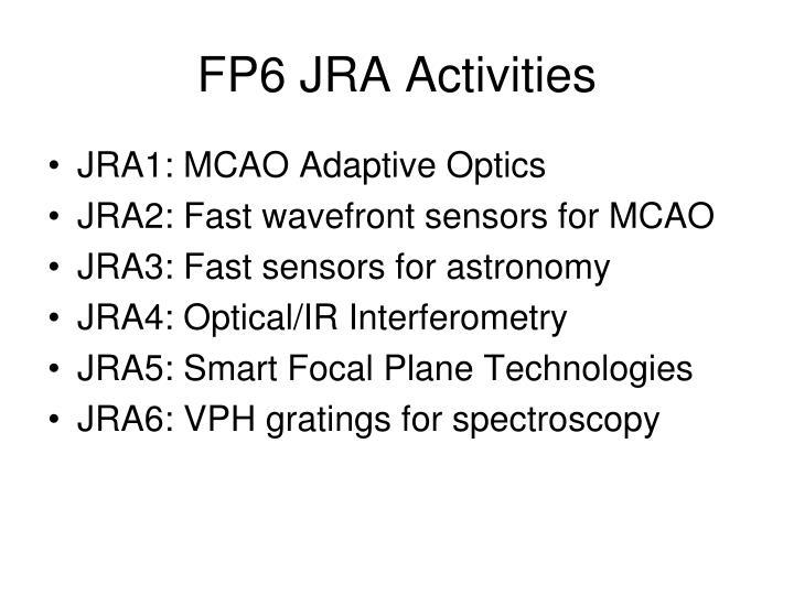 FP6 JRA Activities