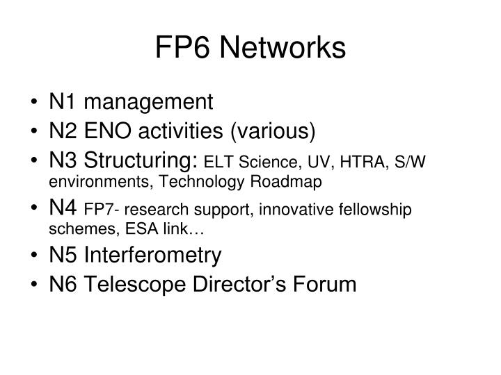 FP6 Networks