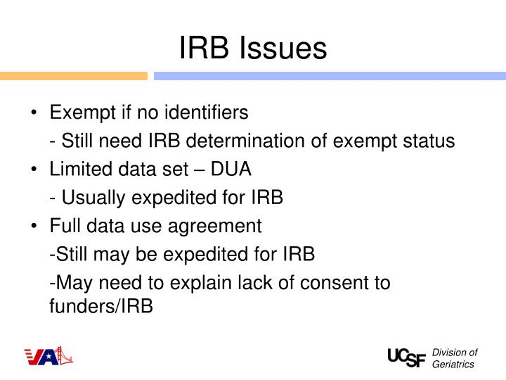 IRB Issues