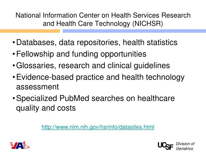 National Information Center on Health Services Research and Health Care Technology (NICHSR)
