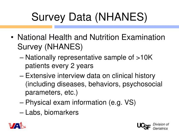 Survey Data (NHANES)
