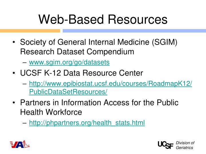 Web-Based Resources