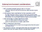 external environment considerations