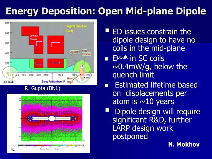 Energy Deposition: Open Mid-plane Dipole