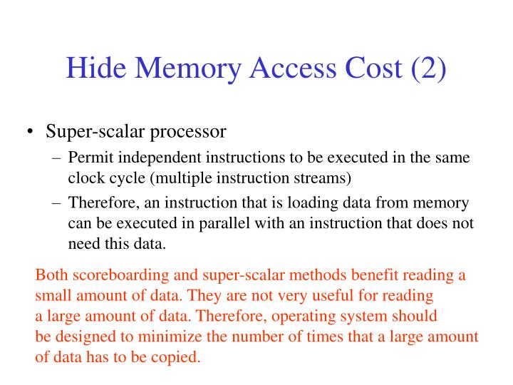 Hide Memory Access Cost (2)