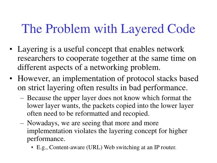 The Problem with Layered Code