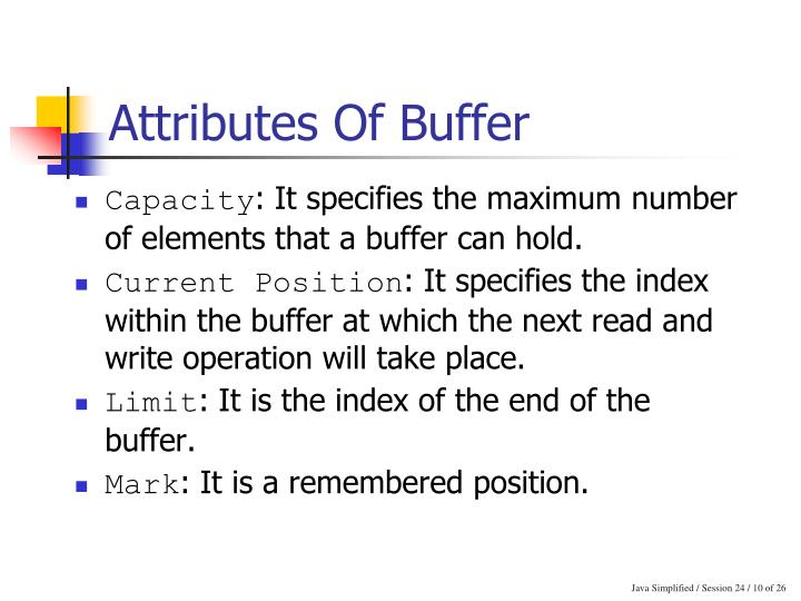 Attributes Of Buffer