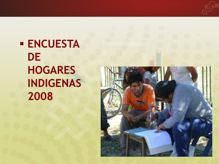 ENCUESTA DE HOGARES INDIGENAS 2008