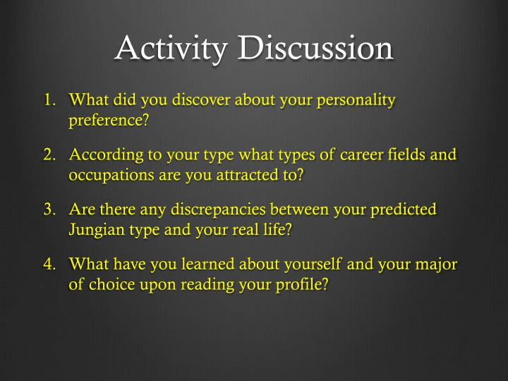 Activity Discussion