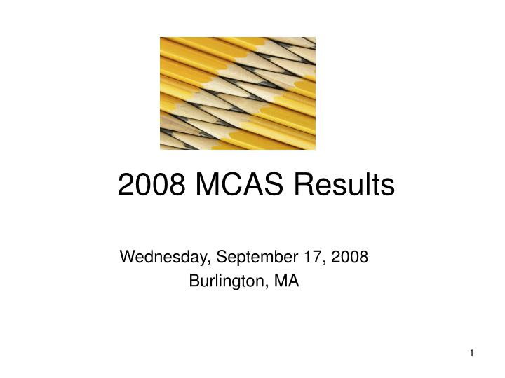 2008 mcas results