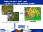 multi temporal land cover classification by pixel level fusion