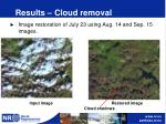 results cloud removal