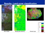 results land cover classification