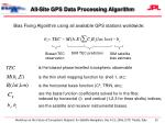 all site gps data processing algorithm