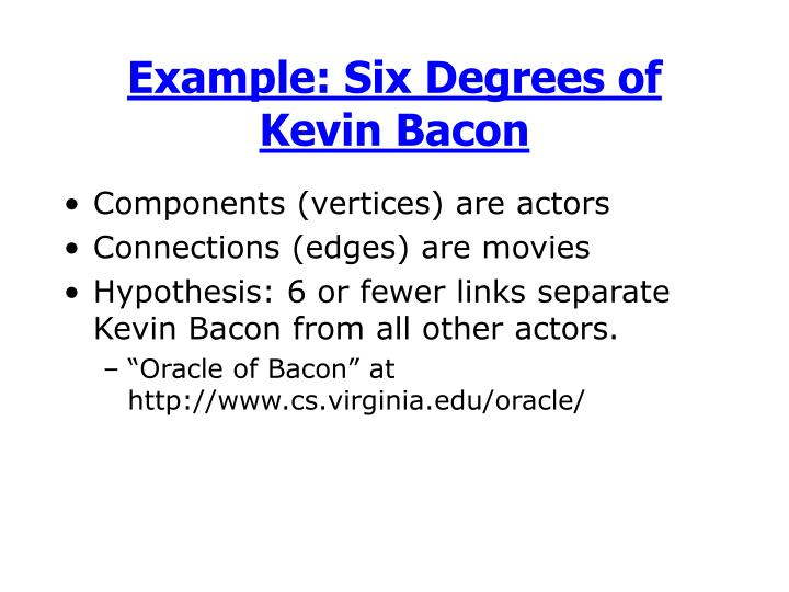 Example: Six Degrees of Kevin Bacon