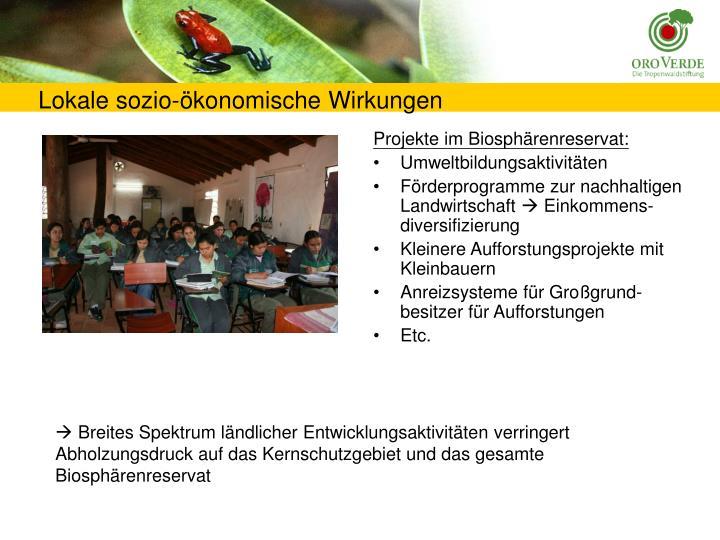 Projekte im Biosphärenreservat:
