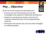 play objectives