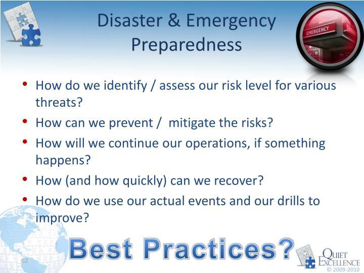 Disaster & Emergency Preparedness