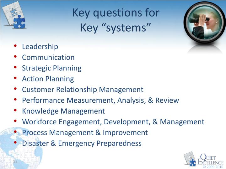 Key questions for