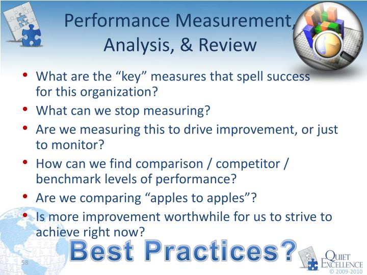 Performance Measurement, Analysis, & Review
